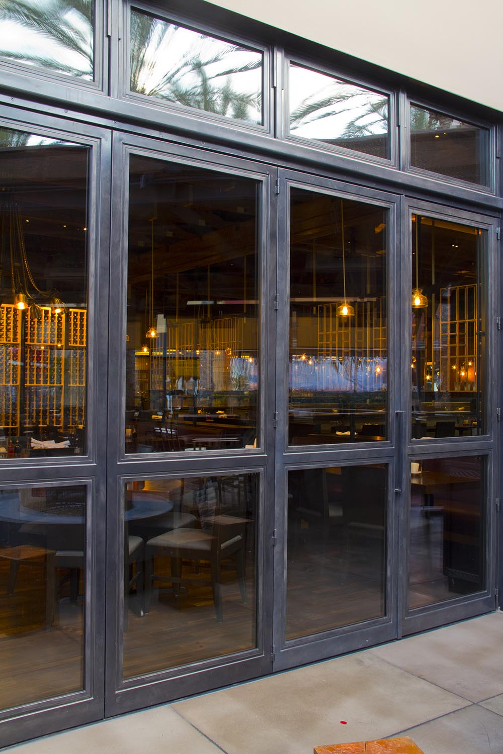 custom steel doors, custom steel windows, thermally broken, nfrc, steel doors in southern california, steel doors in new york, steel windows in new york, restaurants, riviera bronze